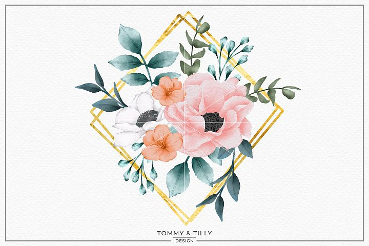 Summer Bouquet Frame - Sublimation PNG Clipart