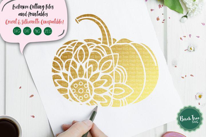 Pumpkin Mandala SVG Cut File, Pumpkin SVG, Pumpkin Clipart