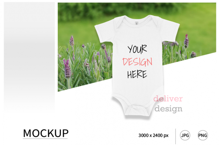 White Bella Canvas 100B Mockup / Bodysuit Mockup