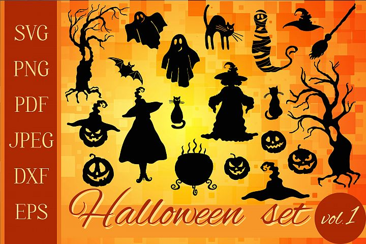 Halloween graphic set 20 in 1 SVG, PNG, PDF, JPEG, DXF, EPS