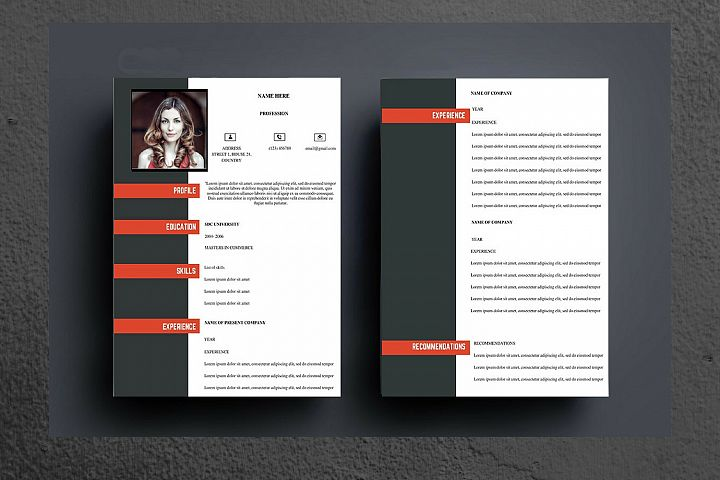 Black and Red Modern Resume