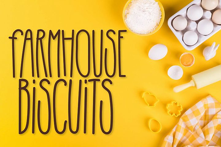 Farmhouse Biscuits - A Tall, Craft Friendly Monoline!