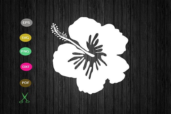 Hibiscus SVG cut file, Hibiscus Flower SVG silhouette, Flowe