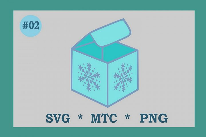 SVG 3D Favor Gift Box Snowflake #02 Cut File