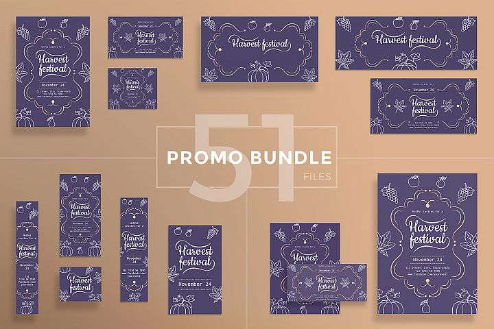 Harvest Festival Design Templates Bundle