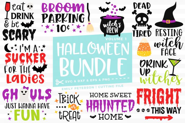 Halloween Bundle 12 Designs Volume 1 SVG DXF EPS PNG