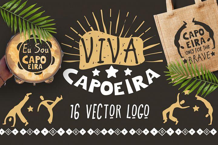 Capoeira Brazilian martial art logo