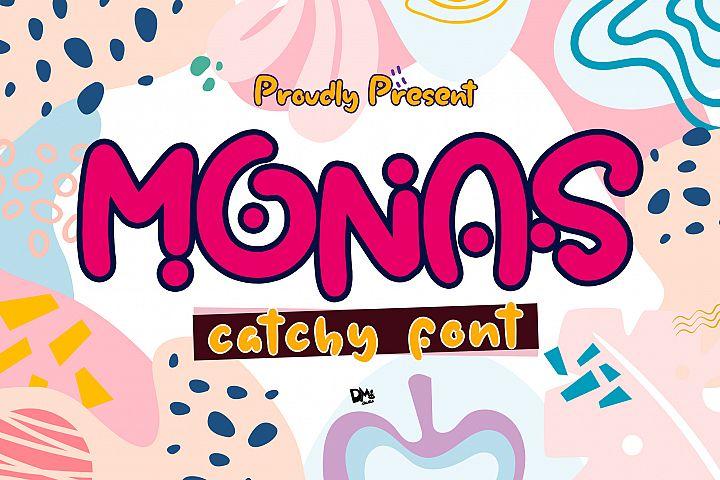 Monas - Catchy Font