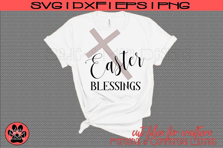 Easter Blessings with Cross | SVG Cut File