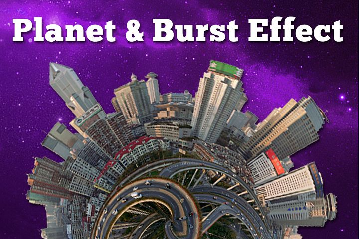 Spherize Planet and Burst Photo Effect