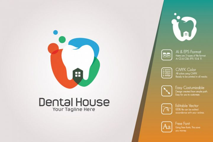 Dental House Logo Template