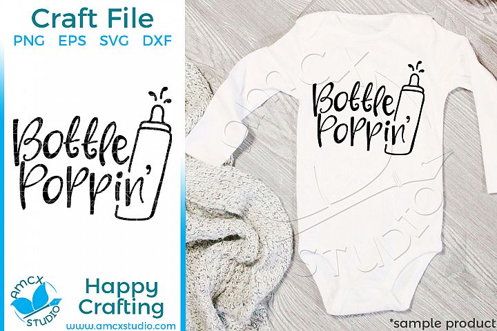 Bottle Popping Babys New Years Eve Craft SVG