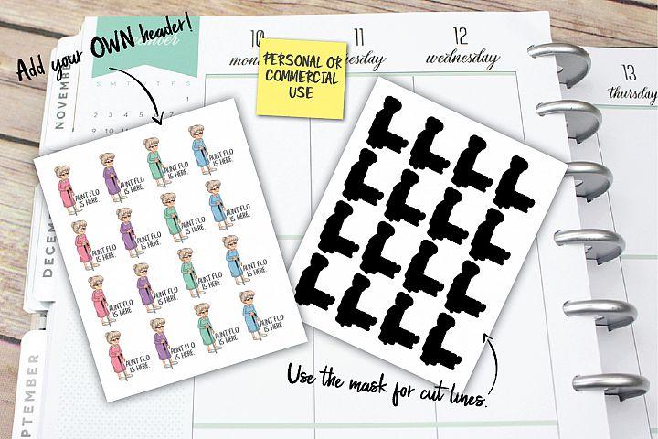 Aunt Flo Planner Stickers