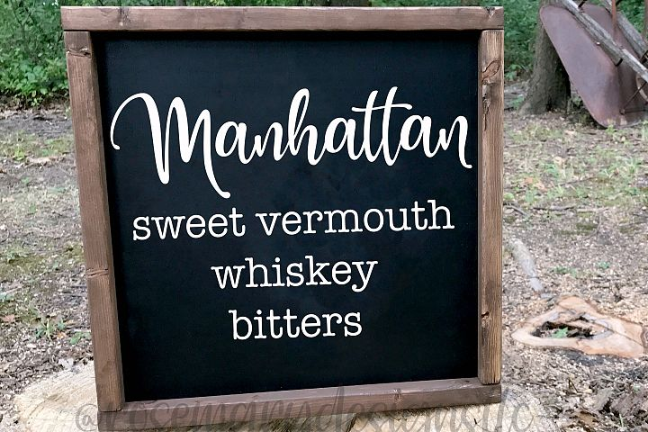 Manhattan Recipe SVG
