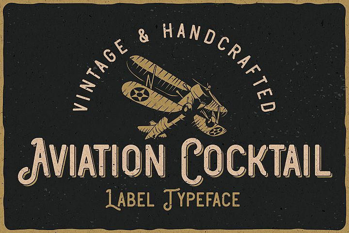 Aviation Cocktail Font plus BONUS