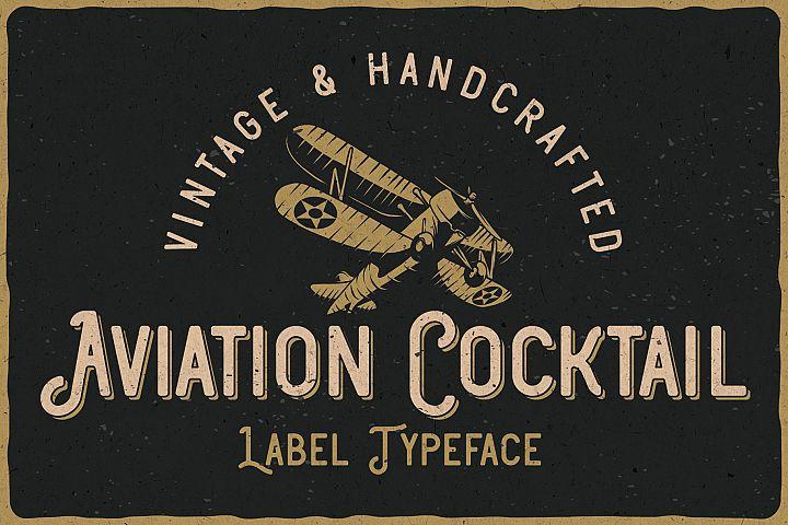 Aviation Cocktail Font plus BONUS