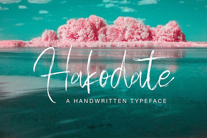Hakodate - Handbrush Typeface