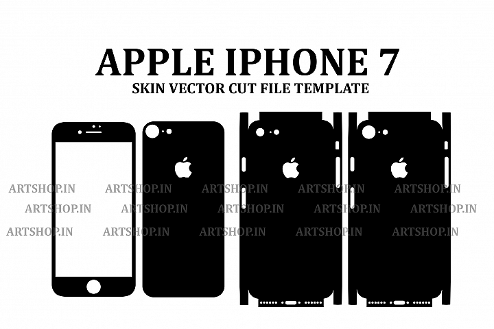 Apple iPhone 7 Vinyl Skin Vector Cut File