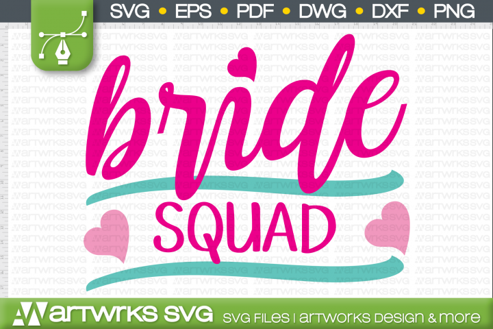 Wedding SVG files for Cricut   Bride Squad