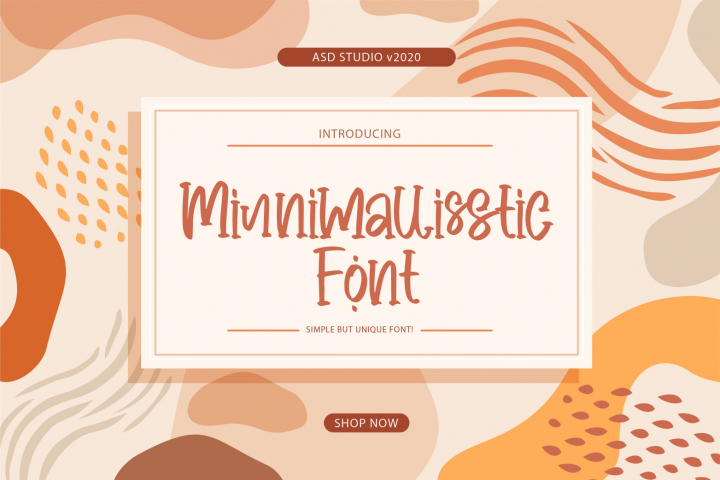 Minnimallisstic Font