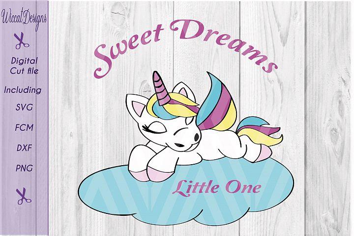 Baby Unicorn svg, sleeping unicorn, svg, dxf cut file, scanncut