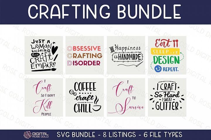 Crafting Bundle - SVG BUNDLE - Craft Room Decor, Cricut SVG