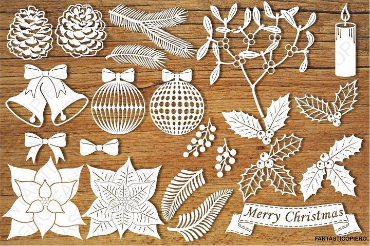 Christmas Decorative Elements SVG files