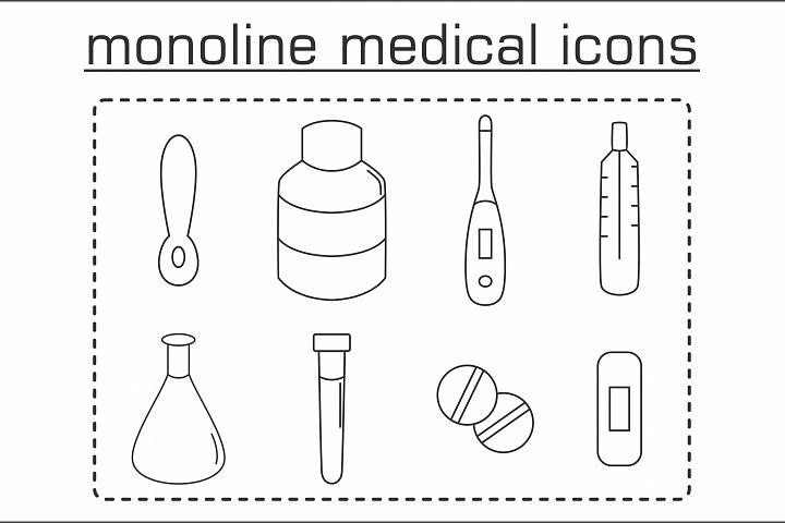 Monoline Medical Icons
