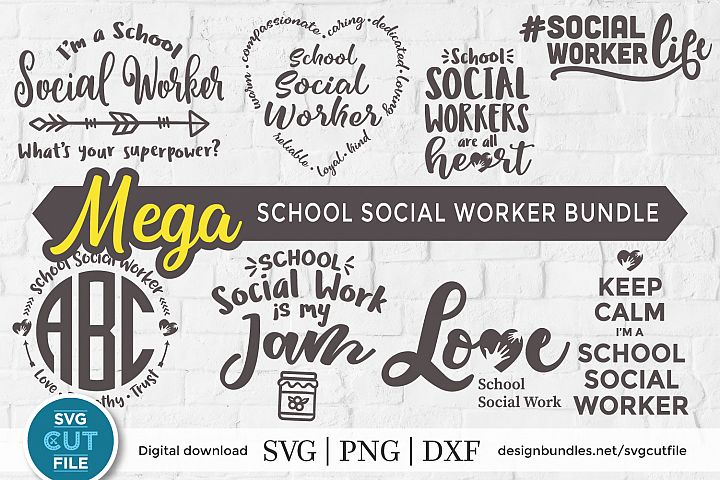 School Social worker svg - and SVG & DXF bundle for crafters