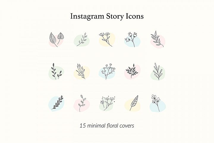 Botanical Instagram Story Icons