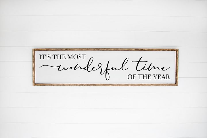 Christmas Sign SVG -Its The Most Wonderful Time Of The Year
