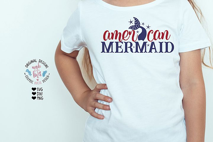 American Mermaid - 4th of July Cut File