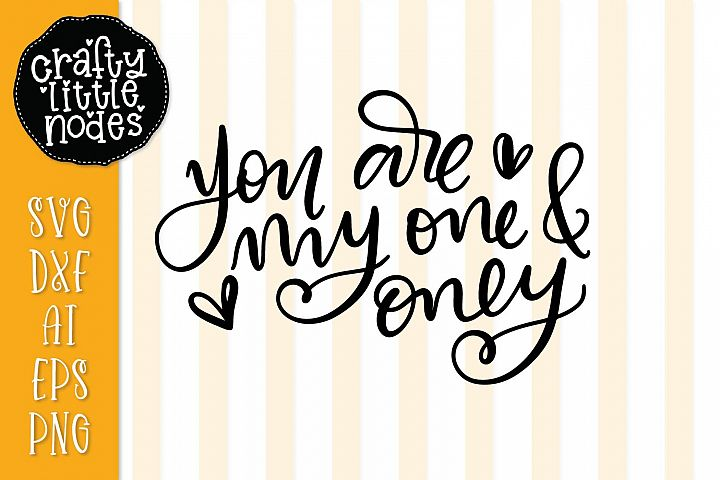 You are my one & only - Hand Lettered Design