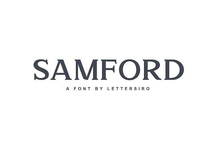 Samford font
