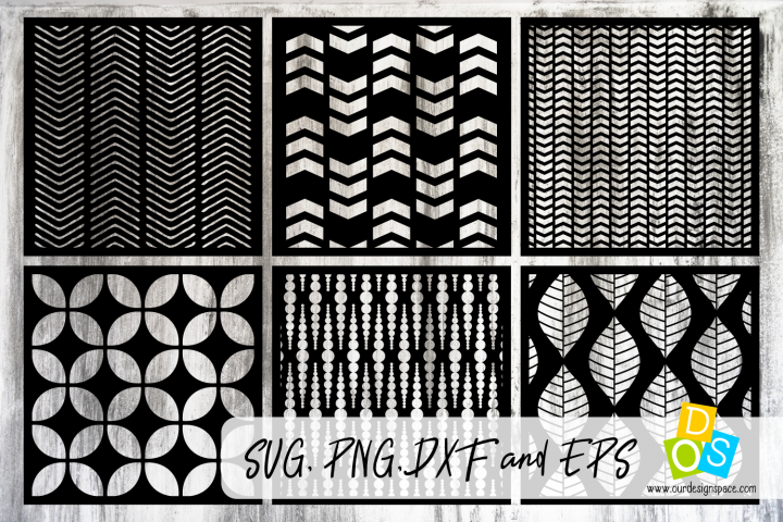 Stencils & Patterns 3 SVG, DXF, EPS and PNG files