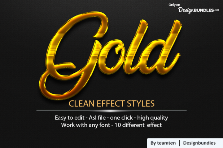 Gold Clean Effect Styles