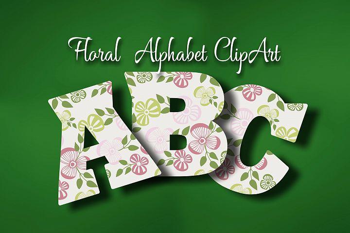 Floral Alphabet ClipArt