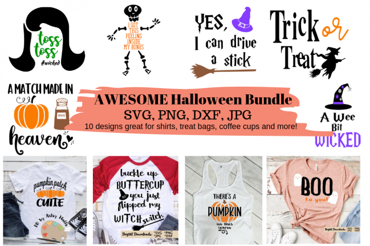 Halloween Bundle svg set, Dxf, Png for Cricut & Silhouette