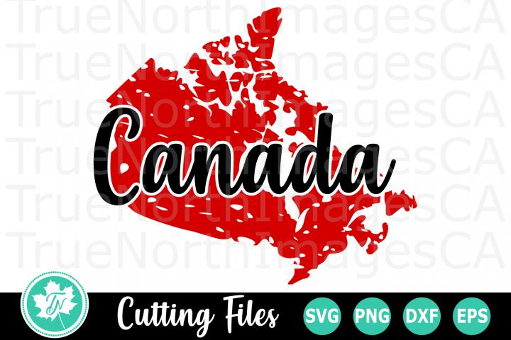 Distressed Canada - A Canada SVG Cut File