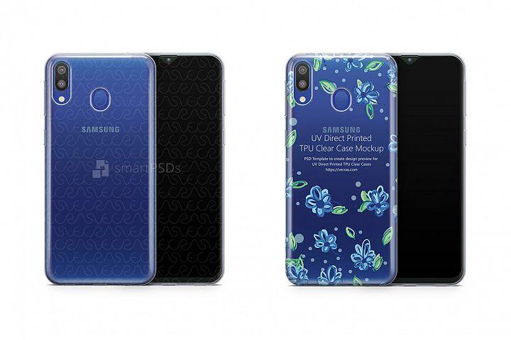 Samsung Galaxy M20 UV TPU Clear Case Mockup 2019
