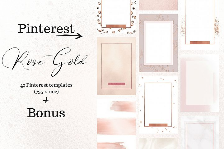 Pinterest rosé gold bundle