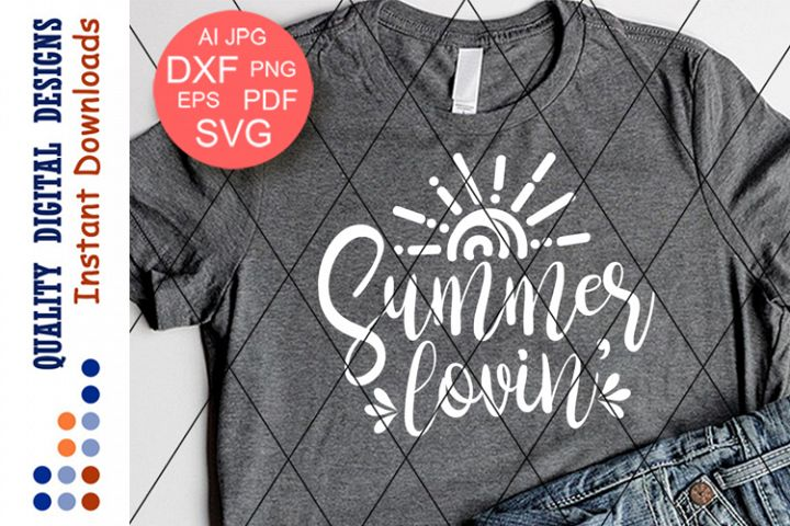 Summer lovin Svg files Sayings Sunset Beach wall art signs
