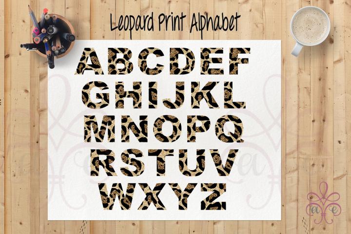 Leopard Print Alphabet Clipart PNG