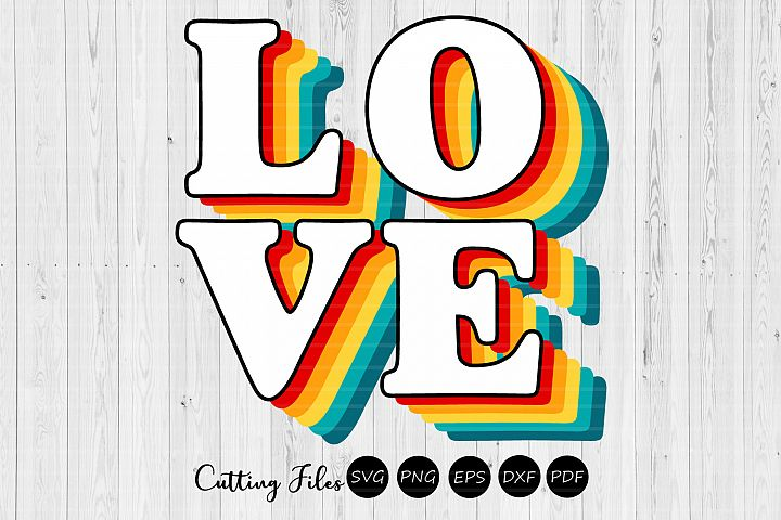 Love | Retro T-Shirt Design |