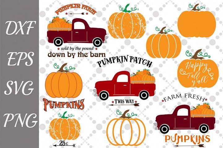 Pumpkin Svg Bundle, PUMPKIN TRUCK BUNDLE SVG, Pumpkin cut fi