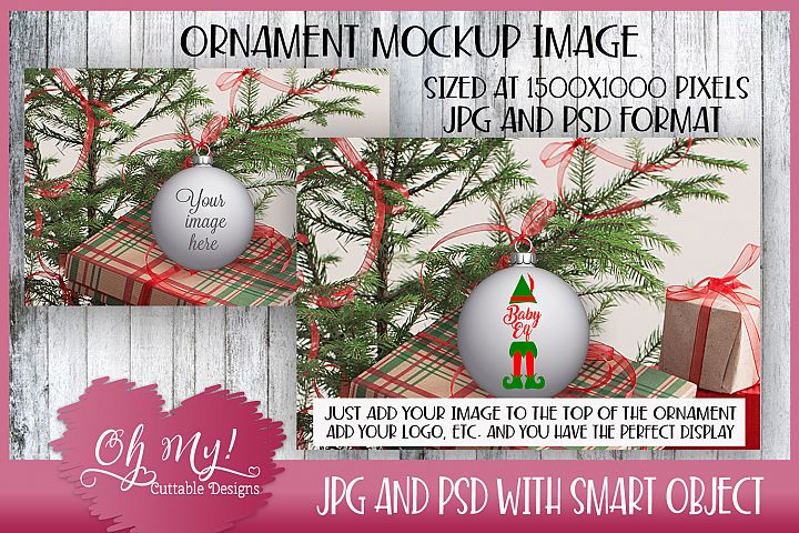Christmas Ornament Mockup - Display
