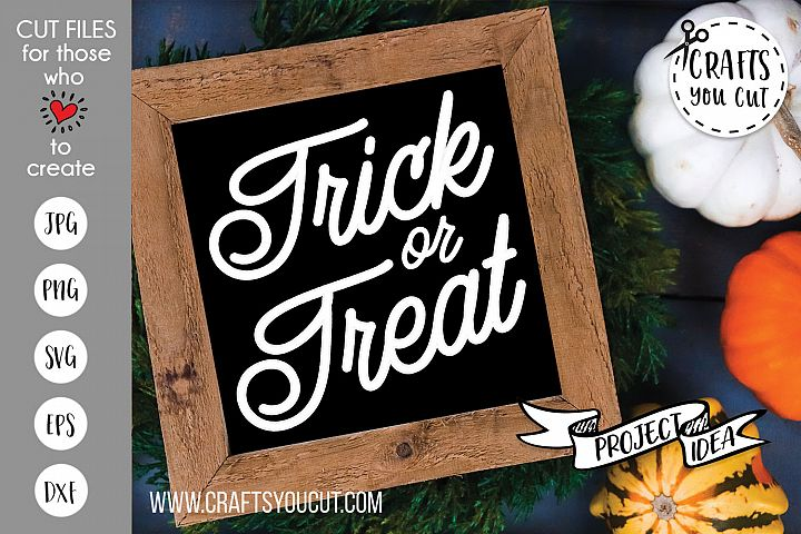 Trick or Treat Halloween Cut File