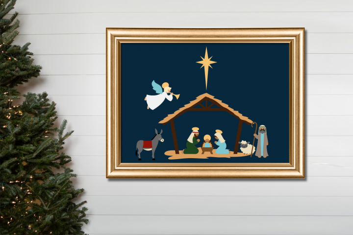 Christmas Nativity SVG Design