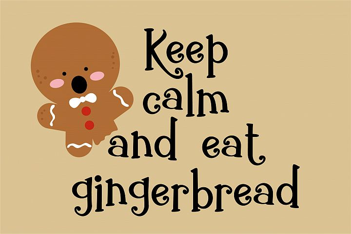ZP Gingerbread Cake - Free Font of The Week Design 3