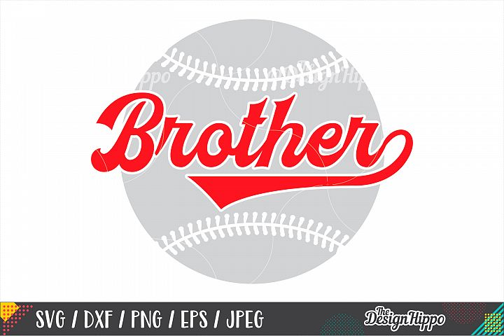 Baseball Brother SVG DXF PNG EPS Cutting Files